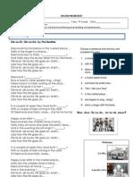 English Worksheet the Beatles