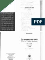 Do governo dos vivos Curso no Collège de France 1979-1980 (excertos)