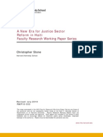 A New Era for Justice Sector Reform in Haiti  - Faculty Research Working Paper Series