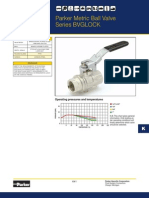 BVG4P 1 LOCK Parker Brass Ball Valve