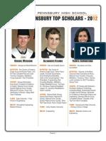 Pennsbury Top Scholars 2012