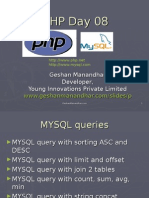 08 PHP MYSQL Complex Queries Functions