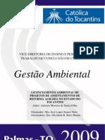 LICENCIAMENTO AMBIENTAL DE PROJETOS DE ASSENTAMENTOS DE REFORMA AGRÁRIA NO ESTADO DO TOCANTINS