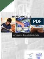 FIEG - Rapporto Sull'Industria Dei Quotidiani 2012