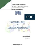 Software Libre y Objeto de Aprendizaje