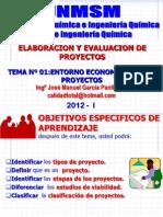 ELABORACION Y EVALUACION DE PROYECTOS  - CLASE Nº 01