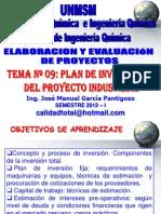 ELABORACION Y EVALUACION DE PROYECTOS  - CLASE Nº 09