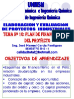 ELABORACION Y EVALUACION DE PROYECTOS  - CLASE Nº 10