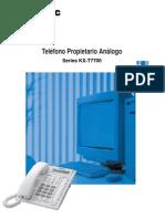Redes Telefonos Propietarios Analogicos Panasonic Serie KX-T7700 www.Logantech.com.mx Mérida, Yuc.