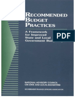 Recommended Budget Practices