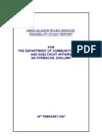 Aran Islands Ro-ro Service Feasibility Study Report