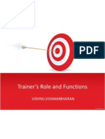 Trainer's Role and Functions