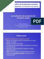 La Evaluacion de Proyectos de Inversion Social