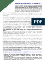 Documento Assemblea Circoli 23-6-2012
