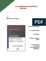 Perrenoud, Philippe. Construir Competencias Desde La Escuela. Ediciones Noreste