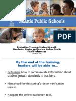 Evaluation Training 2012
