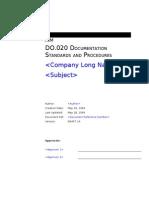 DO020 Documentation Standards and Procedures