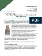 North Coast Media's Landscape Management (LM) Names New Editor