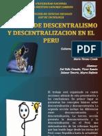 Descentralización y Desconcentración en el Perú