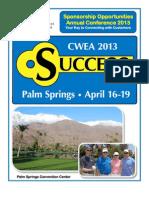 CWEA AC13 Sponsorships