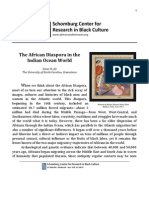 The African Diaspora in the Indian Ocean World Ali Essay