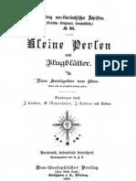 Neu-Salems Schriften, Kleine Perlen 1898