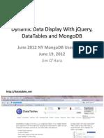 Mongo Datatables