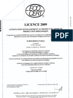 Licence 2009