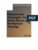 02. Dionysius- Divine Names and Mystical Theology
