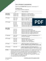 B Tech Datesheet