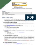 MSP Starter Kit 2010