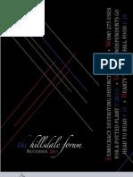 Hillsdale Forum November 2011 Issue