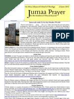 Jumaa Prayer 22june12