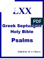 Greek Holy Bible Psalms From Septuagint R S Chaves PDF