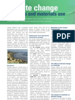Climate change, materials and materials use, winter 2007-08