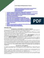 Manual Trabajo Del Departamento Tecnico