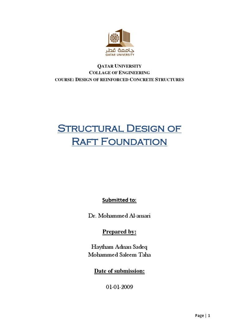 Structural Design of Raft Foundation | Strength Of Materials | Column