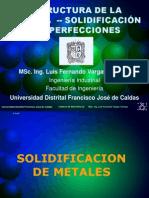 Solidificacion y Defectos