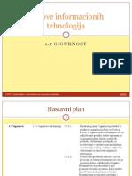 7 Sigurnost - Osnove Informacionih Tehnologija