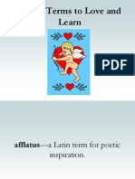 Poetry Terms to Love and Learn