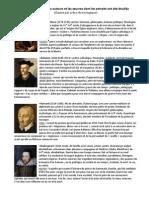 Auteurs et œuvres dont les extraits ont été étudiés