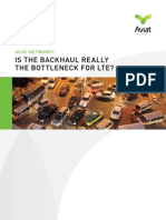 Is the Backhaul Really the Bottleneck for LTE?