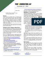 2006 Q1 Newsletter