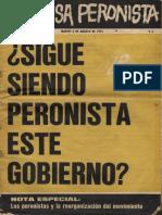 La causa Peronista. Revista Nº 5. Año 1, martes 6 de agosto de 1974.