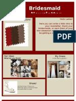 Bridesmaid Newsletter Template