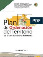 Plan de Ordenacion de Territorio Del Estado Miranda