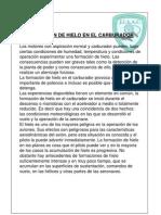 HIELO EN EL CARBURADOR