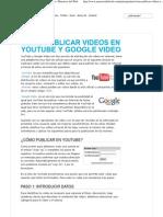 Cómo publicar videos en YouTube y Google Video _ Maestros del Web