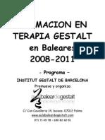 Programa de Formacion en Terapia Gestalt Completo