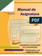 M.a. Introduccion a Las Bases de Datos
